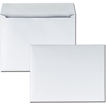 "Quality Park® Open-Side Booklet Envelopes, 9"" x 12"", White, Box Of 250"
