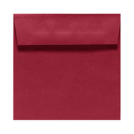 """LUX Square Envelopes With Peel & Press Closure, 5 1/2"""" x 5 1/2"""", Garnet Red, Pack Of 1,000"""