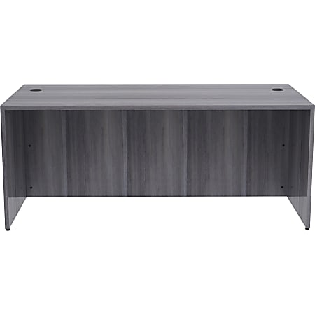 """Lorell 71""""W Desk, Weathered Charcoal"""
