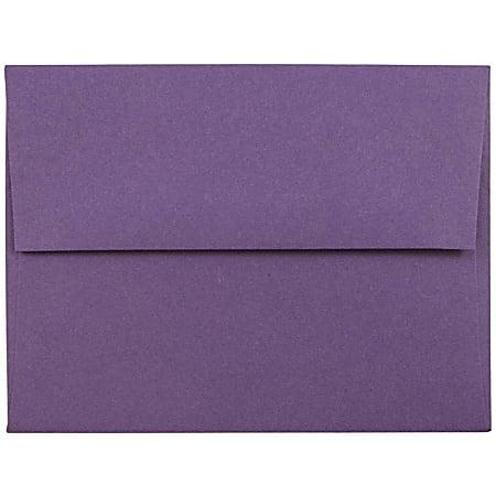 JAM Paper® Booklet Invitation Envelopes, A2, Gummed Seal, Dark Purple, Pack Of 25