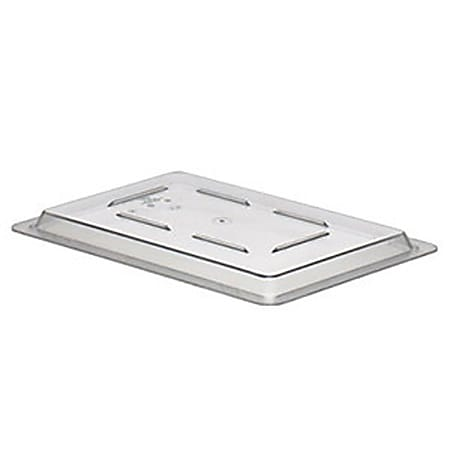 """Cambro Snap-Tight Cover, 19 Qt, 1 1/4""""H x 12""""W x 18""""D, Clear"""