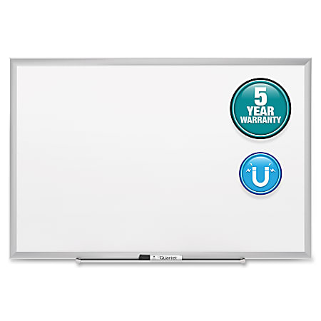 """Quartet® Classic Magnetic Dry-Erase Whiteboard, 36"""" x 48"""", Aluminum Frame With Silver Finish"""