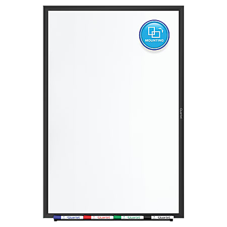 "Quartet® Classic Magnetic Dry-Erase Whiteboard, 48"" x 36"", Aluminum Frame With Black Finish"