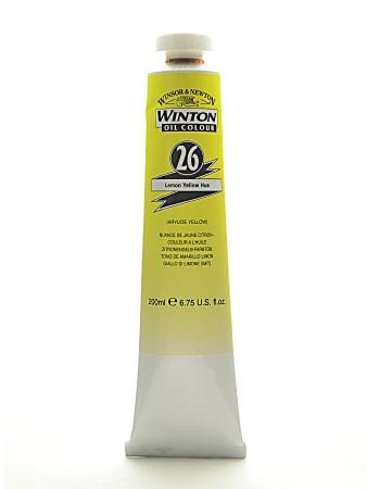 Winsor & Newton Winton Oil Colors, 200 mL, Lemon Yellow Hue, 26