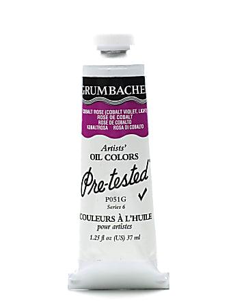 Grumbacher P051 Pre-Tested Artists' Oil Colors, 1.25 Oz, Cobalt Rose