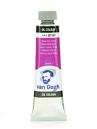 Van Gogh Oil Colors, 1.35 oz, Permanent Red Violet, Pack Of 2