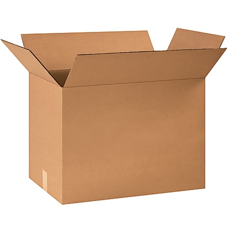 """Office Depot® Brand Corrugated Boxes, 16""""H x 12""""W x 24""""D, 15% Recycled, Kraft, Bundle Of 25"""