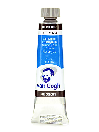 Van Gogh Oil Colors, 1.35 oz, Cerulean Blue, Pack Of 2