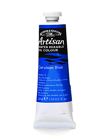 Winsor & Newton Artisan Water Mixable Oil Colors, 37 mL, Cerulean Blue, 137, Pack Of 2