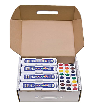 Prang® Semi-Moist Watercolor Master Set, Assorted Colors, Set Of 36