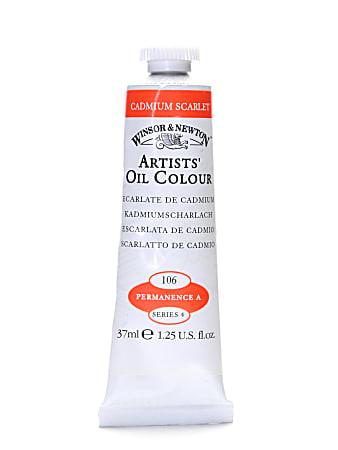 Winsor & Newton Artists' Oil Colors, 37 mL, Cadmium Scarlet, 106