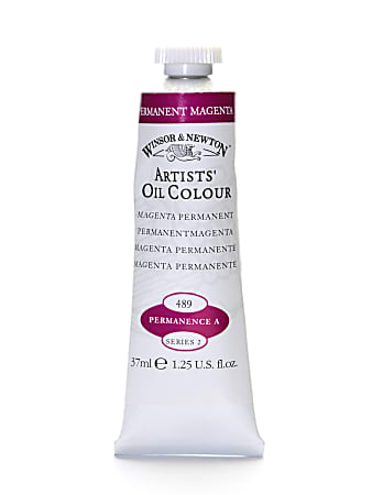 Winsor & Newton Artists' Oil Colors, 37 mL, Permanent Magenta, 489