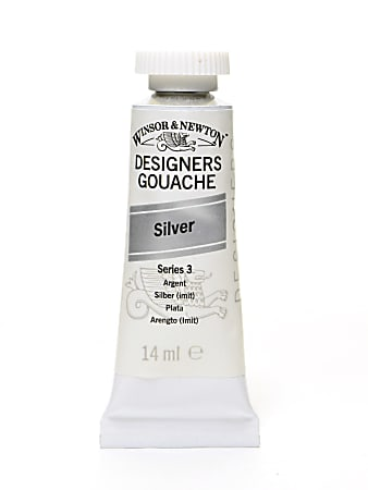 Winsor & Newton Designers' Gouache, 14 mL, Silver, 617