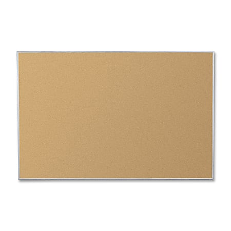 "Balt® Best Rite® Cork Board, 72"" x 48"", 40% Recycled, Aluminum Frame With Silver Finish"