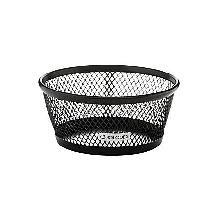 Rolodex® Mesh Paper Clip Holder, Black