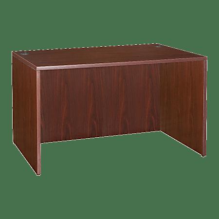 "Lorell® Essentials Series Rectangular Shell Desk, 48""W x 24""D, Mahogany"