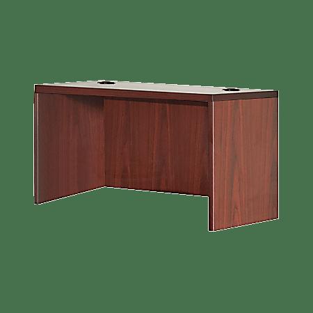 "Lorell® Essentials Series 48""W Rectangular Desk Shell, Mahogany"