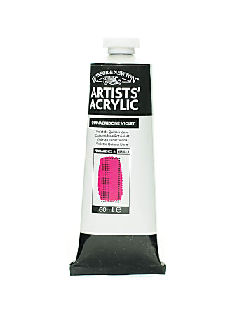 Winsor & Newton Professional Acrylic Colors, 60 mL, Quinacridone Violet, 550, Pack Of 2