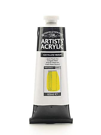 Winsor & Newton Professional Acrylic Colors, 60 mL, Azo Yellow Medium, 19, Pack Of 2