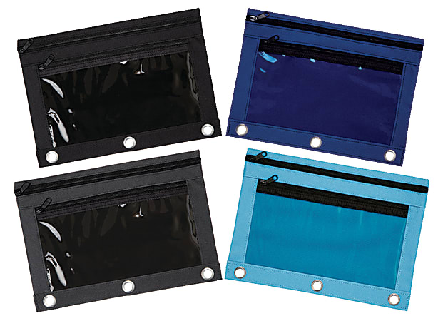 """Office Depot® Brand Pencil Pouch With Clear Window, 7"""" x 9 3/4"""", Assorted Colors"""