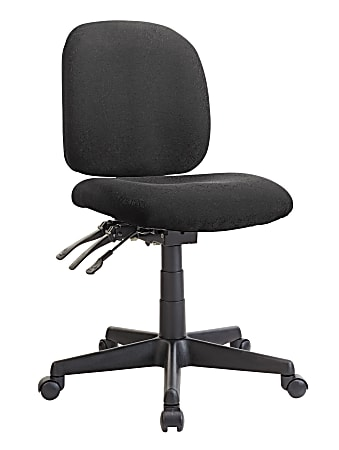 WorkPro® Mobility Multifunction Fabric Task Chair, Black