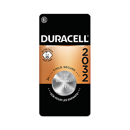 Duracell® 3-Volt Lithium 2032 Coin Battery, Pack of 1