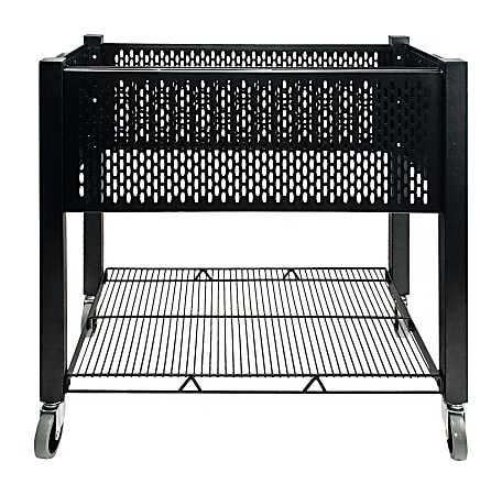 "Vertiflex® SmartWorx Steel Open-Top Filing Cart, 27 3/4""H x 15""W x 28 3/4""D, Black"