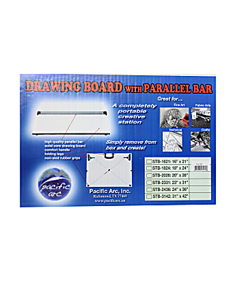 """Pacific Arc Drawing Board With Parallel Bar, 18"""" x 24"""""""
