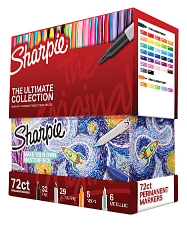 Sharpie® 72-Piece Ultimate Pack, Fine/Ultra Fine Point, Assorted Colors