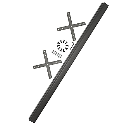 Bush Business Furniture ProPanels X Connector with 66H Post, Light Gray/Slate, Standard Delivery