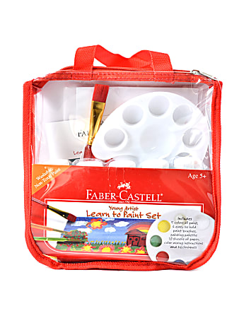 Faber-Castell Young Artist Learn To Paint Kit, Assorted Colors