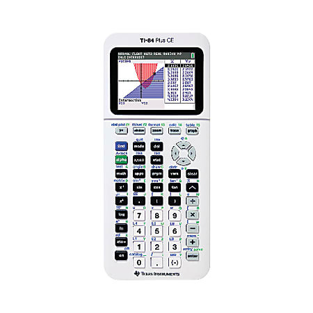 Texas Instruments® TI-84 Plus CE Color Graphing Calculator, White