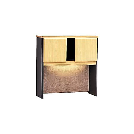 "Bush Business Furniture Office Advantage Hutch 36""W, Beech/Slate, Standard Delivery"