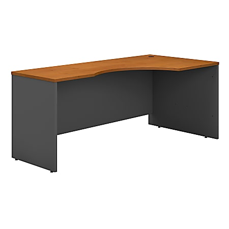 "Bush Business Furniture Components Corner Desk Right Handed 72""W, Natural Cherry/Graphite Gray, Standard Delivery"