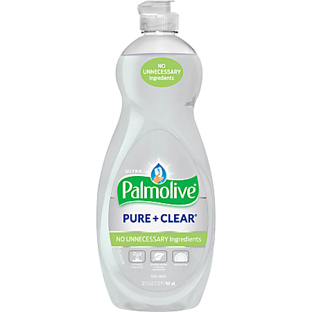 Palmolive Ultra Palmolive Pure/Clear Dish Liquid - Concentrate Liquid - 32.5 fl oz (1 quart) - 1 Each - White