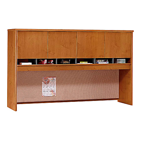 """Bush Business Furniture Components 4 Door Hutch, 72""""W, Natural Cherry, Standard Delivery"""