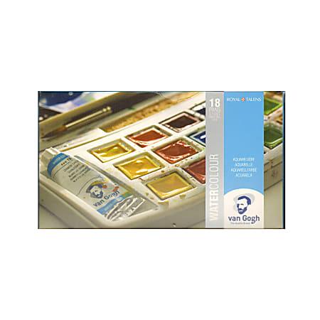 """Van Gogh Watercolor Pocket Box, 5"""" x 4"""" x 3/4"""", Set Of 12"""