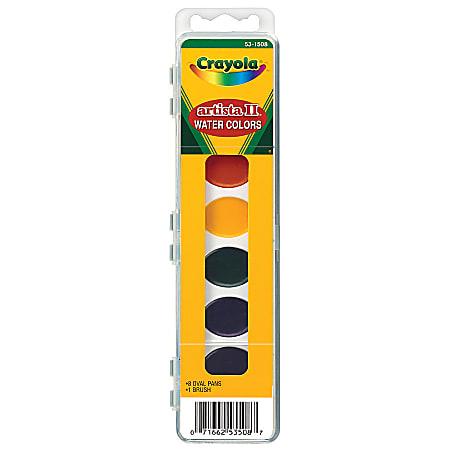 Crayola® Artista II® Semi-Moist Oval Pans With Brush, 8-Pan Set