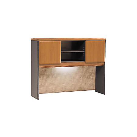 "Bush Business Furniture Office Advantage Hutch 48""W, Natural Cherry/Slate, Standard Delivery"