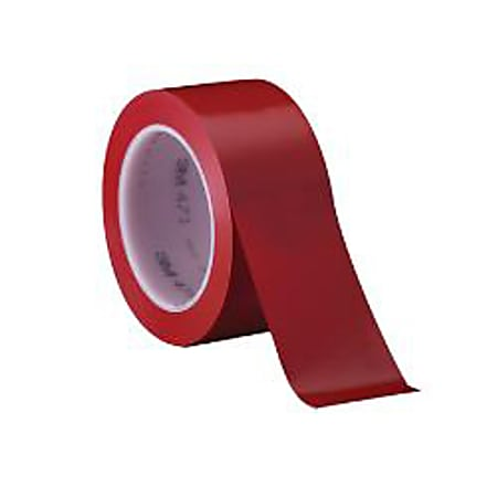 "3M® 471 Solid Vinyl Tape, 2"" x 36 Yd., Red, Case Of 3"