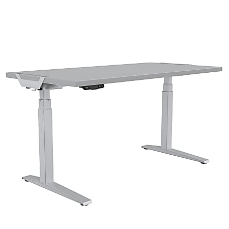 "Fellowes® Levado Height-Adjustable Desk, 60""W, Gray"
