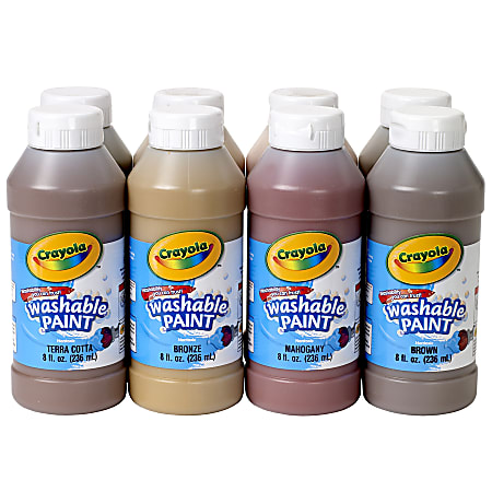 Crayola® Washable Paint In Multicultural Colors, Set Of 8