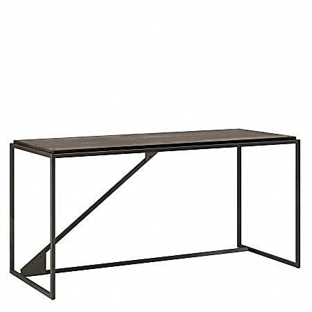 "Bush Furniture Refinery 62""W Industrial Desk, Dark Gray Hickory, Standard Delivery"