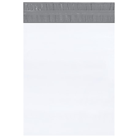 """Office Depot® Brand Returnable Poly Mailers, 14"""" x 17"""", White, Case Of 100"""