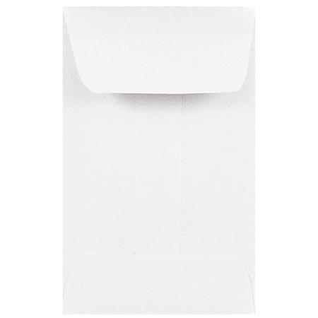 JAM Paper® Coin Envelopes, #1, Gummed Seal, White, Pack Of 100 Envelopes
