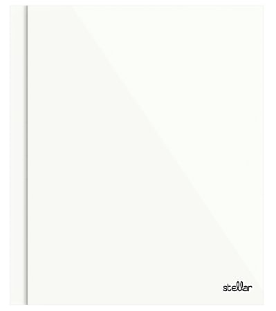 Office Depot® Brand Stellar Laminated 3-Prong Paper Folder, Letter Size, White