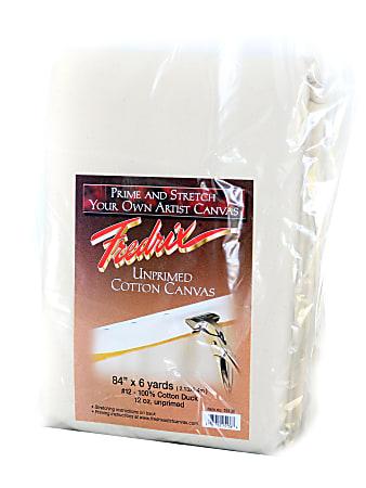 "Fredrix Style 548 Unprimed Heavyweight Cotton Canvas, 84"" x 6 Yd."