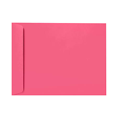 """LUX Open-End Envelopes With Peel & Press Closure, 6"""" x 9"""", Magenta Pink, Pack Of 500"""