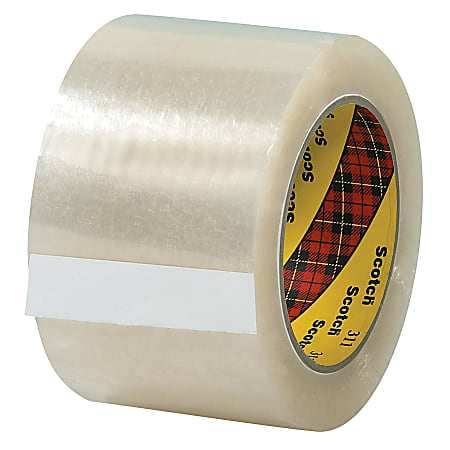 """3M® 311 Carton Sealing Tape, 3"""" x 110 Yd., Clear, Case Of 24"""