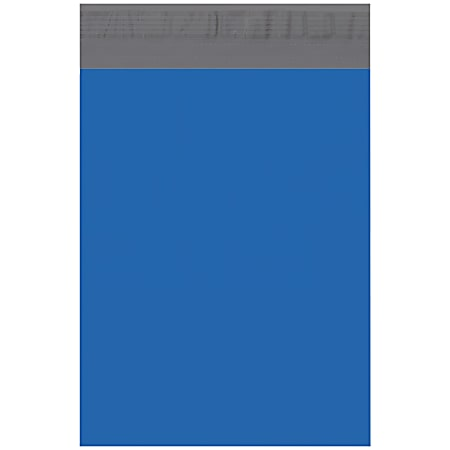 """Office Depot® Brand 10"""" x 13"""" Poly Mailers, Blue, Case Of 100 Mailers"""